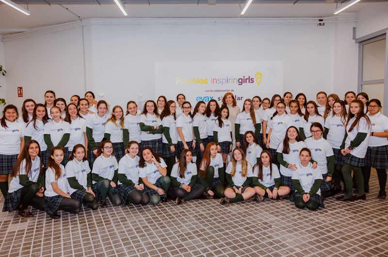 Alumnas de 12 años del colegio Los Tilos de Madrid se